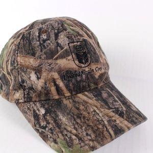 Vintage United Grain Corp Camo Baseball Hat Cap